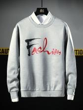 Fashion ArtFont Letter Patchwork Sweatshirt