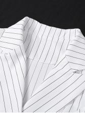 Striped Long Sleeve Short Blazers For Women