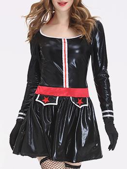 Cosplay Female Trooper Pu Dress Halloween Costumes
