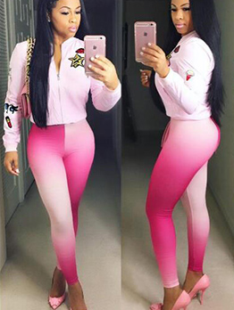 Skinny Gradient Color Leggings For Women