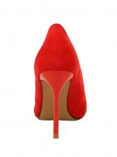 Fashion SuedeShallow Slip On Ladies Heels
