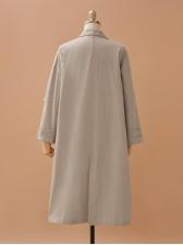 Minimalist Pockets Single-Breasted Ladies Trench Coat