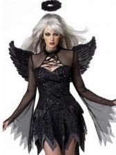Halloween Gauze Dress Evil Angel Costume For Women