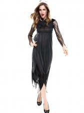 Lace Stitching Gauze Dress Vampire Costume For Halloween