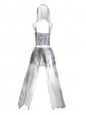 Off Shoulder Gauze Dress Vampire Bride Halloween Costumes