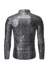 Gilding Leopard Printed Lomg Sleeve Shirt