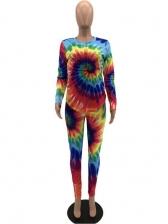 Trendy Multicolored Tie Dye 2 Piece Pants Set