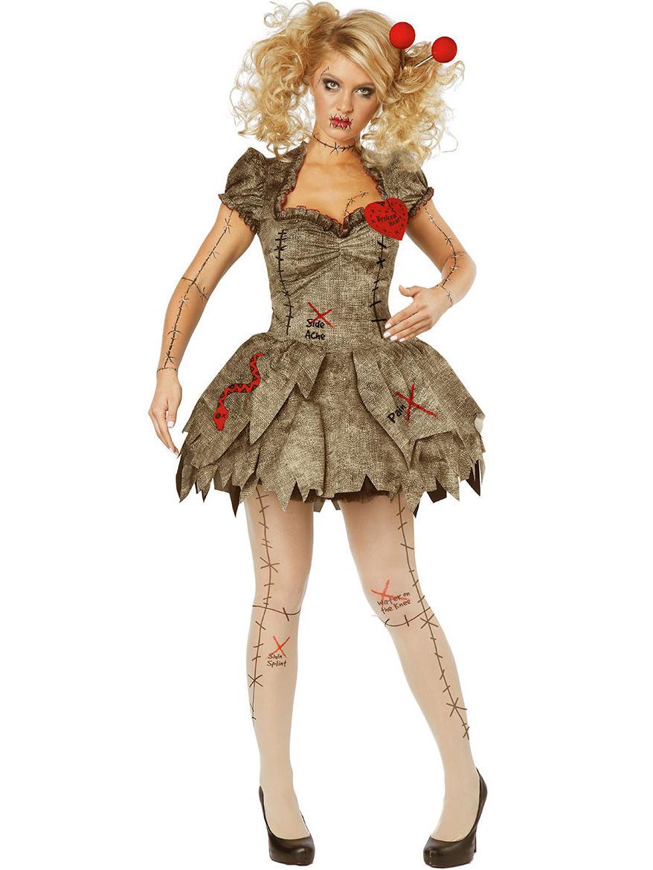 Halloween Devil Ghost Doll Irregular Dress Costume Without Headwear