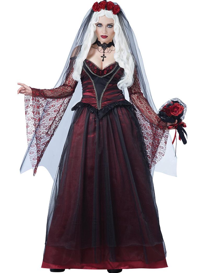 Halloween Queen Sleeveless Cosplay Maxi Dress