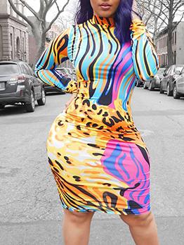 Sexy Coloful Bodycon Short Dress