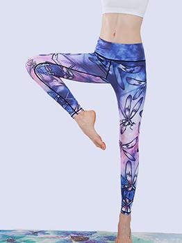 High Waist Fast Dry Printed Yoga Pants