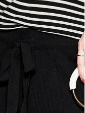 Easy Matching Striped Knitting Two Piece Pants Set