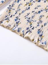 Slim Floral Off Shoulder StringySelvedge Blouse Design