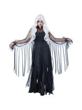 Halloween Ripped Tulle Ribbon Dress Vampire Costume