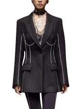 Versatile Contrast Color Elegant Blazers For Women