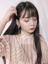 Cute Flower Asymmetric Clip On Earrings