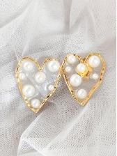 Heart Or Star Pattern Clip On Earrings
