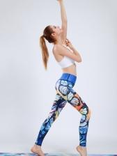 Butterfly Printed High Waist Yoga Pants