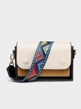 Fashion Patchwork Button Bags For Women