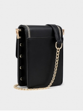 Sweat PU Contrast Color Phone Bag For Women