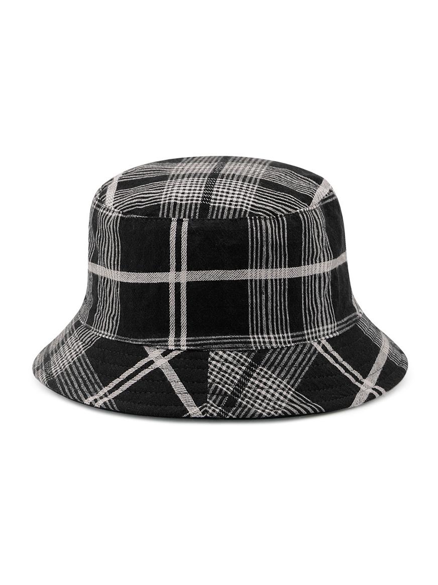 Unisex Plaid Reversible Bucket Hat