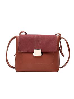 Patchwork Buckle One Shoulder Ladies Shoulder Bags