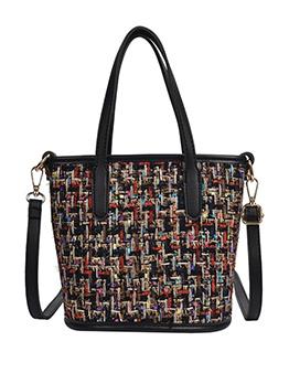 Tweed Plaid Patchwork Ladies Handbags