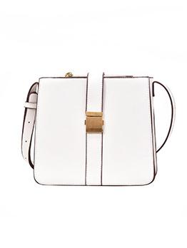 Buckle Strap Solid Shoulder Bags Online
