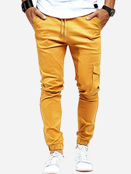 Sporty Side Pockets Drawstring Jogger Pants