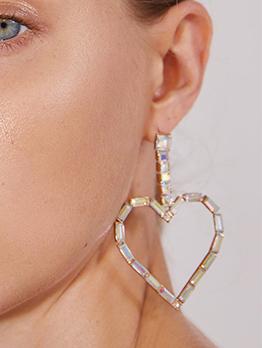 Sweat Heart Shape Earrings For Women