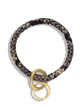 Fashion Snake Printed Pu Bracelet