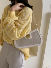 Roman Style Solid Side Bag For Womens
