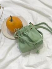 INS PU Mini Tote Shoulder Bag For Women