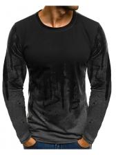 Sporty Printed Long Sleeve Men t Shirt