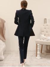 Striped Long Sleeve Blazer Co-ord