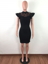 Lace Patchwork Bodycon Slim Fit Dresses