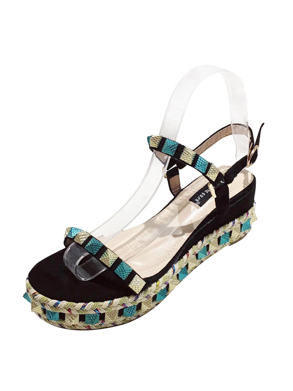 Rivet Foam Bottom Wedge Sandals