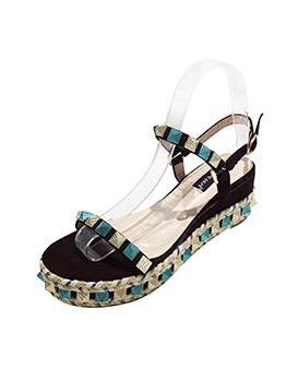 Rivet Foam Bottom Wedge Sandals