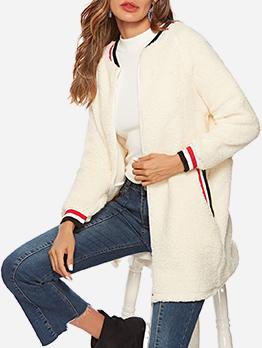 Fashion Zipper Up Long Sleeve Long Coat