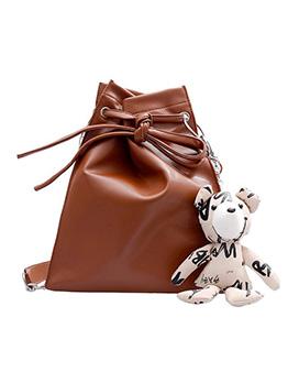 Solid Pu Drawstring Design Chain Crossbody Bags