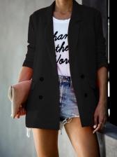 Minimalist Pure Color Long Sleeve Ladies Blazer