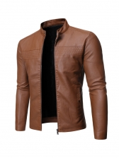 Motorcycle Stand Collar Leisure Jackets For Men
