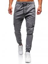 Sporty Loose Contrast Color Men Pants