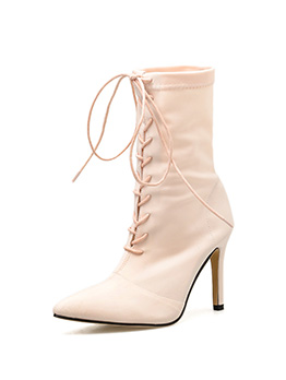Sexy Elastic Cloth Bandage Thin High Heel Boots