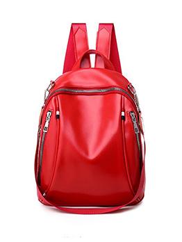 Multiple Zipper Practical Small Backpack For Women