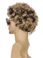 High Temperature Fiber Colormix Short Curly Wig For Men