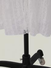 V Neck Split Hem Long Sleeve White Maxi Dress