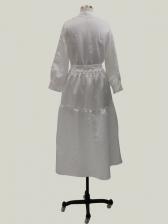 Lace Detail Long Sleeve Lace Hem White Maxi Dress