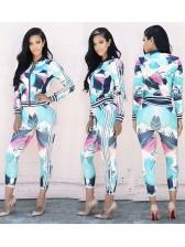 Geometric Print Long Workout Clothes