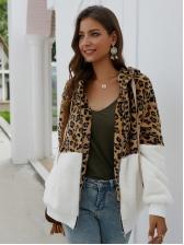 Patchwork Leopard Printed Cashmere Jacket